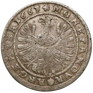 Śląsk, Ludwik IV legnicki, 15 krajcarów 1663, Brzeg
