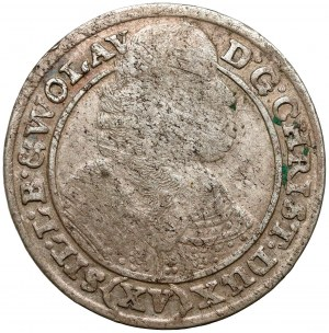 Śląsk, Chrystian wołowski, 15 krajcarów 1663, Brzeg