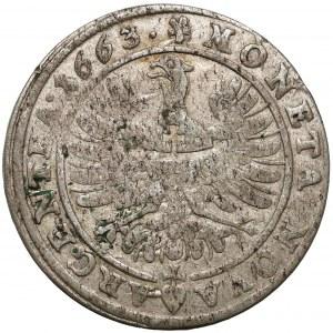 Śląsk, Chrystian wołowski, Brzeg, 15 krajcarów 1663