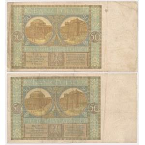 50 złotych 1925 - Ser.P i AW (2szt)