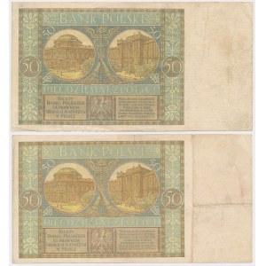 50 złotych 1925 - Ser.A i AC (2szt)