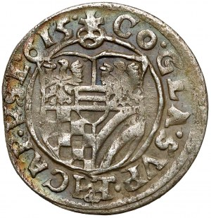 Śląsk, Karol II, 3 krajcary 1615 HT, Oleśnica - szeroka tarcza