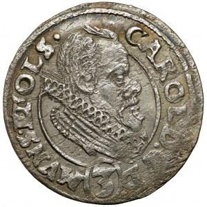 Śląsk, Karol II, 3 krajcary 1614, Oleśnica