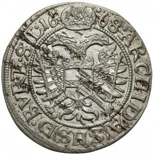 Śląsk, Leopold I, 3 krajcary 1668 SHS, Wrocław