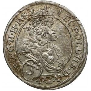 Śląsk, Leopold I, 3 krajcary 1695 MMW, Wrocław