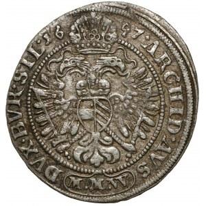Śląsk, Leopold I, 3 krajcary 1697 MMW, Wrocław