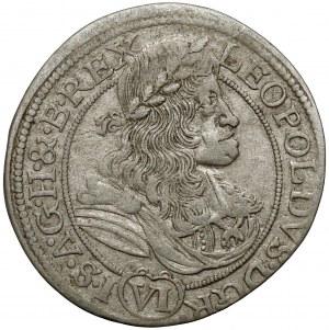 Śląsk, Leopold I, 6 krajcarów 1683 SHS, Wrocław