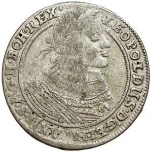 Śląsk, Leopold I, 15 krajcarów 1662 GH, Wrocław - tarcza