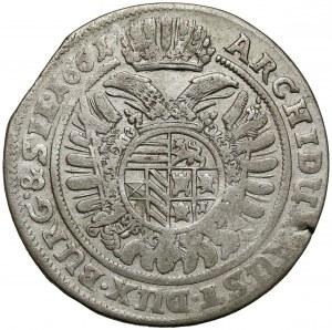 Śląsk, Leopold I, 15 krajcarów 1661 GH, Wrocław - wstęga