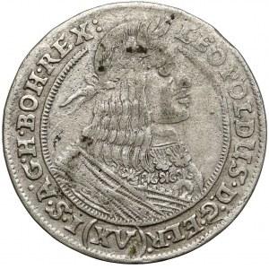 Śląsk, Leopold I, 15 krajcarów 1662 GH, Wrocław - owal