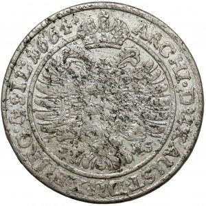 Śląsk, Leopold I, 15 krajcarów 1664 SHS, Wrocław - szerokie