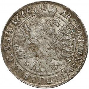Śląsk, Leopold I, 15 krajcarów 1664 GH, Wrocław