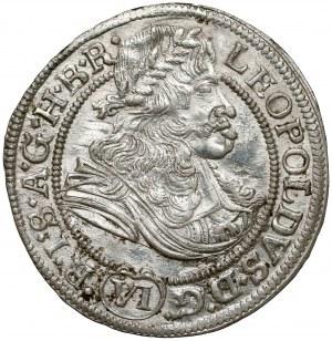 Śląsk, Leopold I, 6 krajcarów 1674 SHS, Wrocław