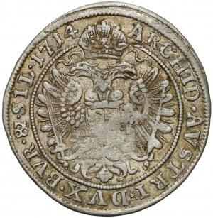 Śląsk, Karol VI, 6 krajcarów 1714, Wrocław