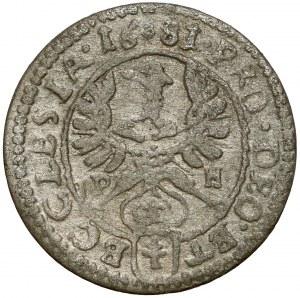 Śląsk, Fryderyk Heski, 1 krajcar 1681 LPH, Nysa - LPH przy orle