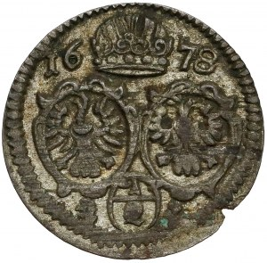 Śląsk, Leopold I, 1/2 krajcara 1678, Opole (jednostronne)