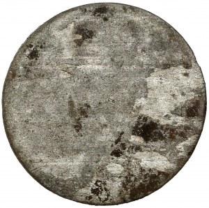 Śląsk, Leopold I, 1/2 krajcara 1674, Opole (jednostronne)