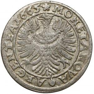 Śląsk, Chrystian wołowski, 6 krajcarów 1665, Brzeg