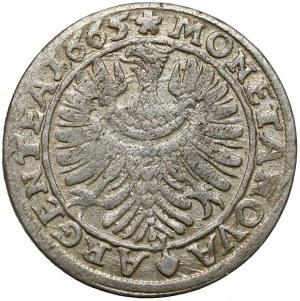 Śląsk, Chrystian wołowski, Brzeg, 6 krajcarów 1665