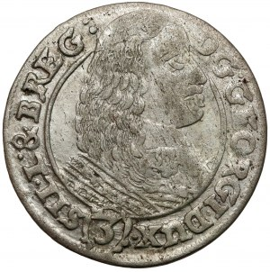 Śląsk, Jerzy III Brzeski, 3 krajcary 1661 EW, Brzeg