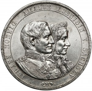 Sachsen, Johann, Doppeltaler 1872