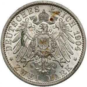Mecklenburg-Schwerin, 2 mark 1904