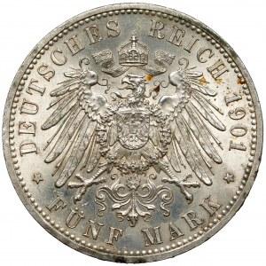 Preussen, 5 mark 1901