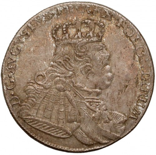 August III Sas, Ort Lipsk 1754 EC - buldogowate popiersie