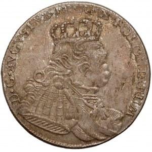 August III Sas, Ort Lipsk 1754 EC - buldogowate, cieniowany