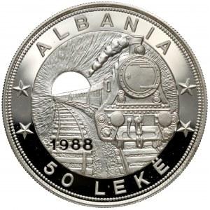 Albania, 50 leke 1988 - SREBRO