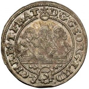 Śląsk, Trzej Bracia, 3 krajcary 1656, Brzeg