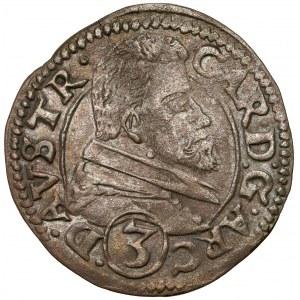 Śląsk, Karol Austriacki, 3 krajcary 1614, Nysa