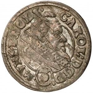 Śląsk, Karol II, 3 krajcary 1612, Oleśnica - wąska kryza
