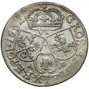 Jan II Kazimierz, Szóstak Kraków 1662 AT