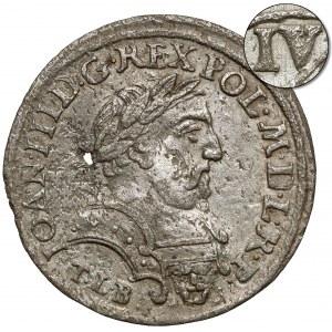 Jan III Sobieski, Szóstak Kraków 1680-C - w zbroi - IV zamiast VI