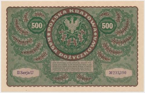 500 mkp 1919 - II Serja U
