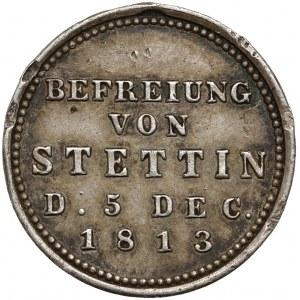 Siegespfennig, Wyzwolenie Szczecina 1813