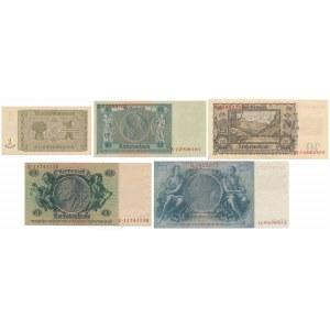 Niemcy, Okupacja sowiecka 1 - 100 mk 1948 (5szt)