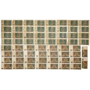 50 złotych 1940 i 100 złotych 1941 - zestaw (62szt)
