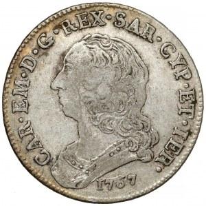 Włochy, Księstwo Sabaudii-Piemontu, Karol Emanuel III, 1/2 scudo 1767