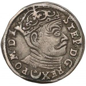 Stefan Batory, Trojak Wilno 1583 - późny portret
