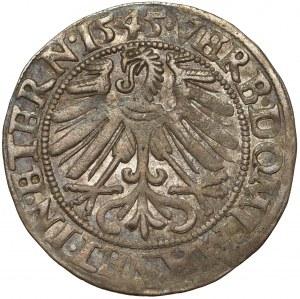 Śląsk, Fryderyk II, Grosz 1545, Legnica