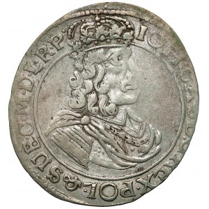Jan II Kazimierz, Ort Toruń 1664 HDL - rzadki portret