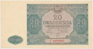 20 złotych 1946 - C - duża litera