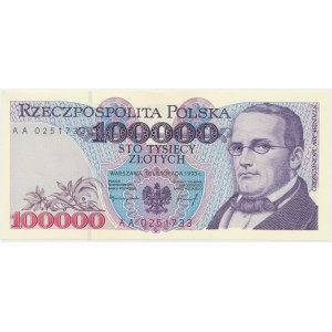 100.000 złotych 1993 - AA