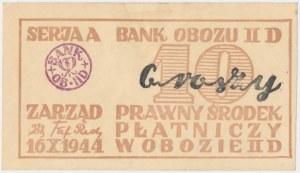 Oflag II D Gross-Born, 10 groszy 1944 - jasny stempel