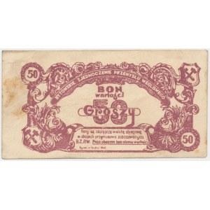 Bytomskie Zjednoczenie Przemysłu Węglowego, bon na 50 groszy 1945