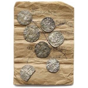 Otto III i Adelajda (983-1002), Denary z kapliczką - zestaw (7szt)