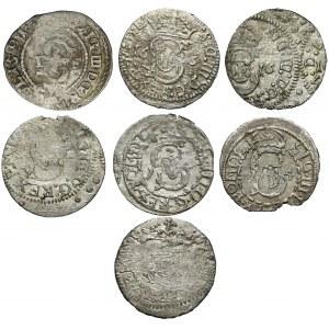 Szelągi koronne i litewskie Zygmunta III - zestaw (7szt)