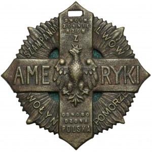 Odznaka, Swoim Żołnierzom Ameryki Oswobodzona Polska (przerobione mocowanie)